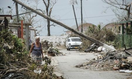 Damnificados tras el paso de un huracán