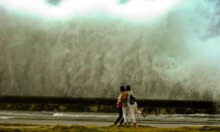 El mar avanzó al menos 500 metros Malecón adentro (Foto: Jorge Carrasco)