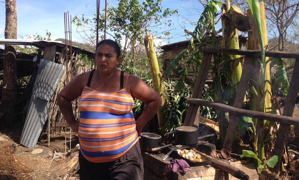 Durante el ciclón a Marelis solo le preocupaba que no le robaran los materiales de la construcción (Foto: Geisy Guia)