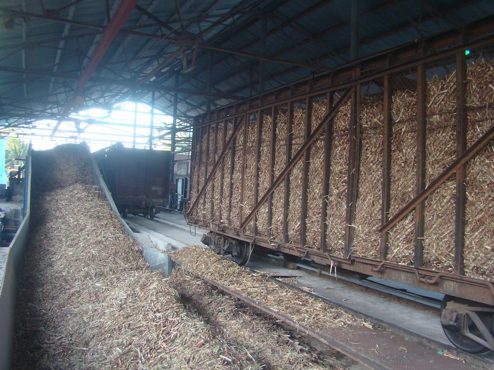 El renovado basculador traga 60 toneladas a la vez, ¡lástima que bostece a diario por falta de caña! (Foto: Rogelio Serrano)