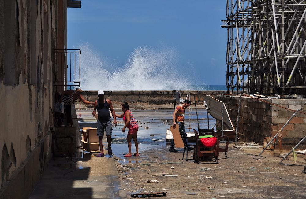 Centro Habana tras el paso del huracán Irma