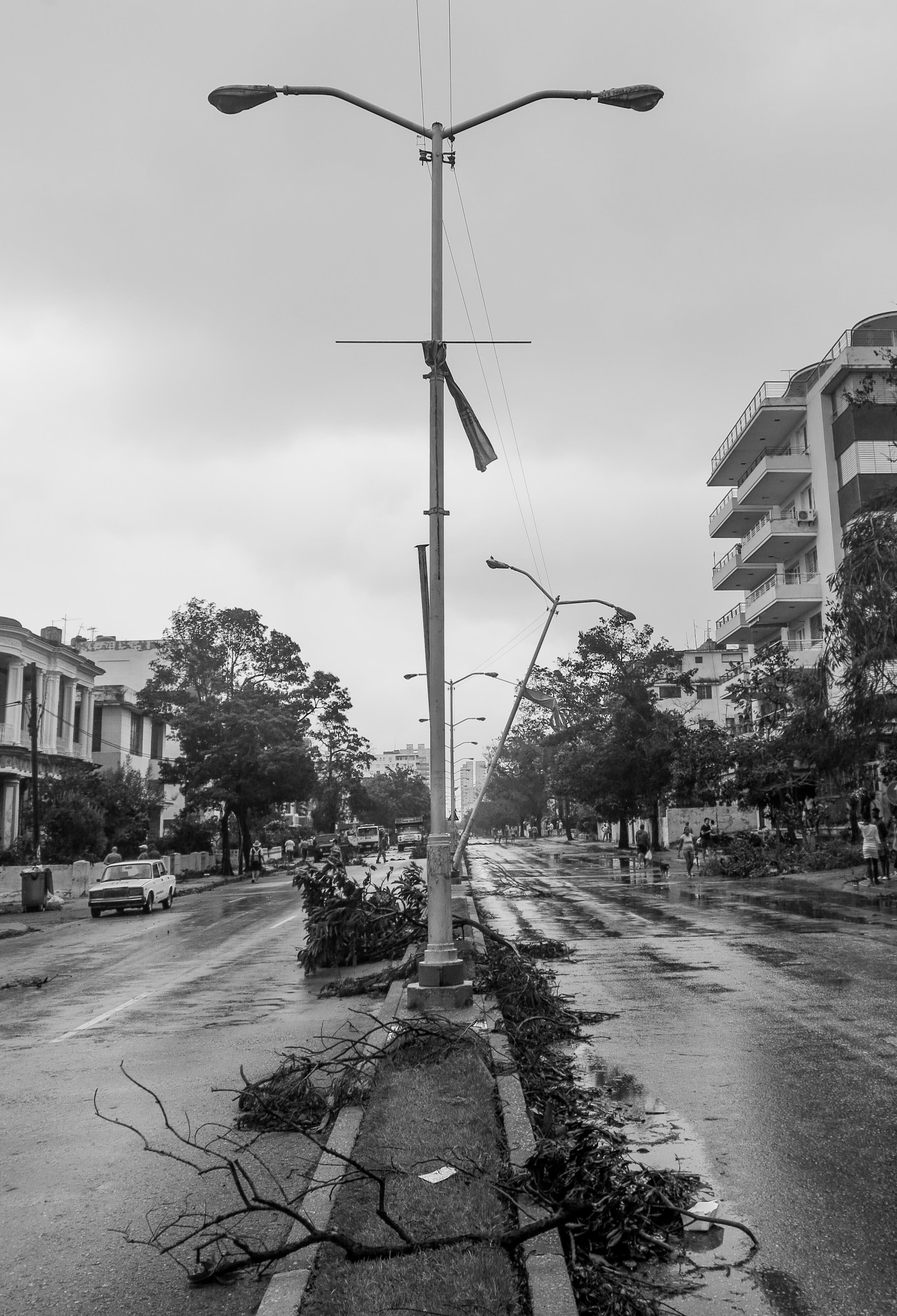 Todavía en la ciudad hay múltiples riesgos para los habitantes (Foto: Mónica Baró)