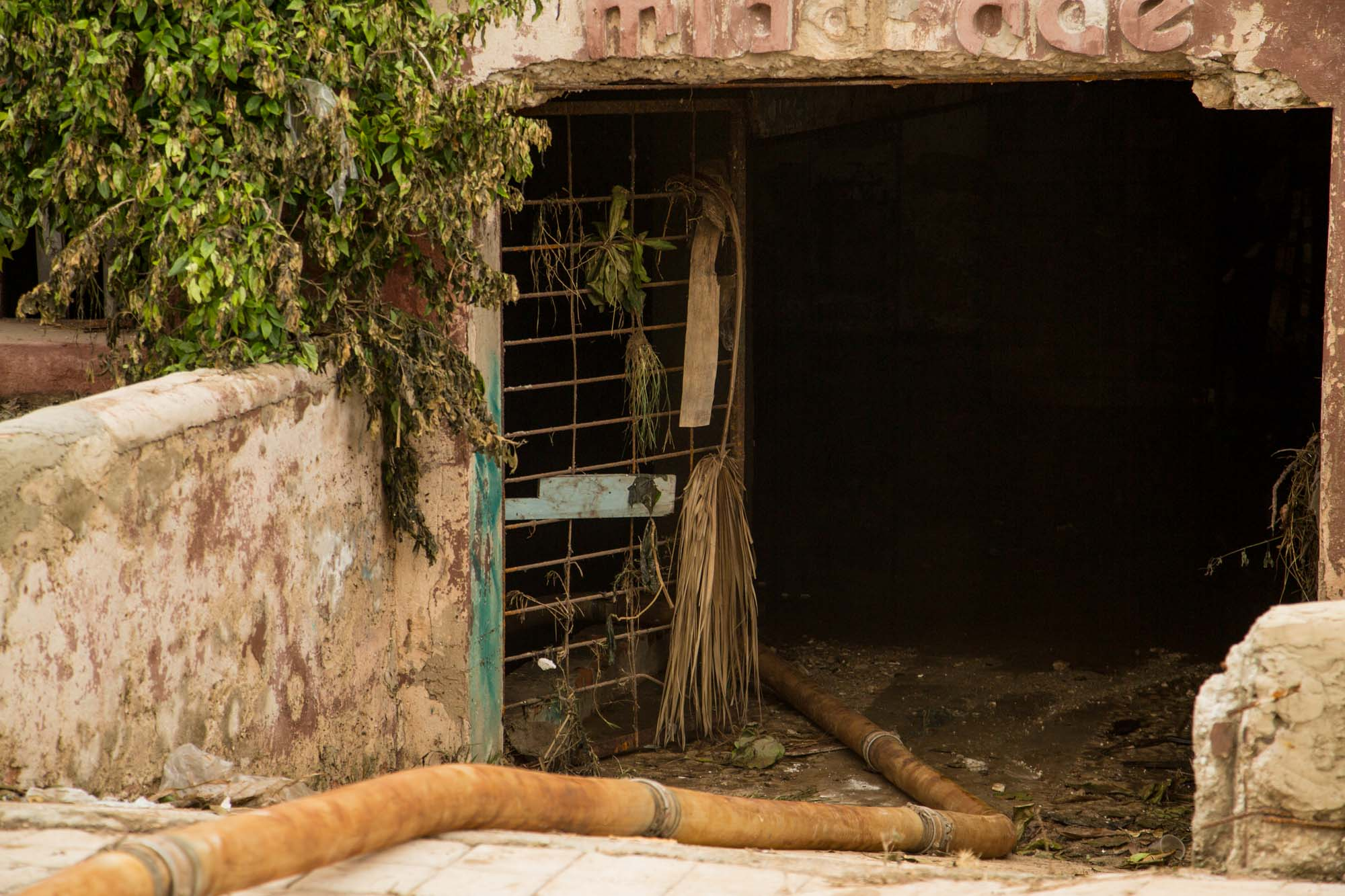 De este sitio sacaron 70 pipas de agua (Foto: Jorge Ricardo)