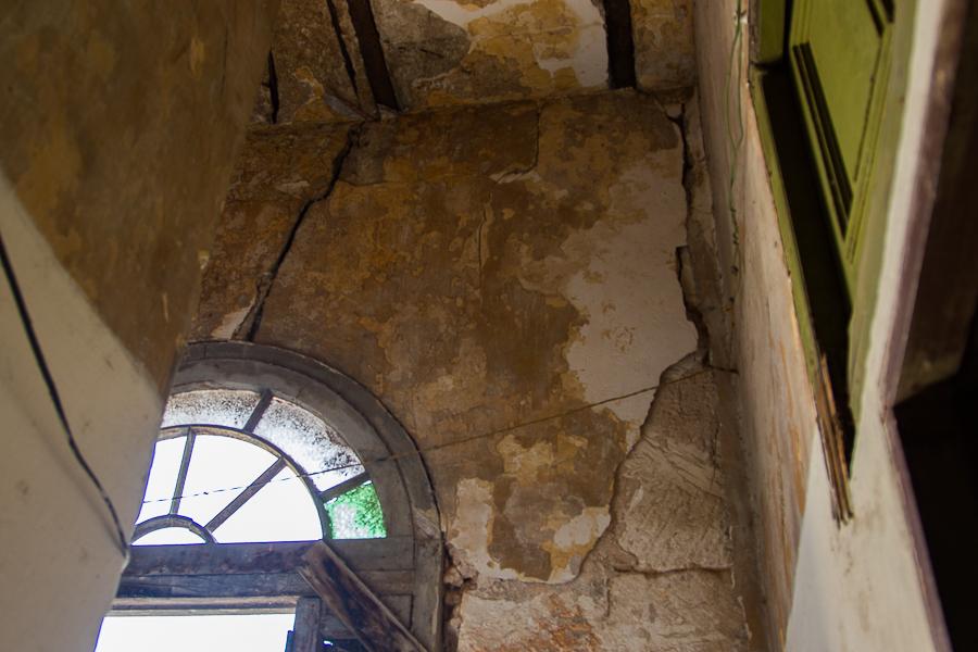Paredes interiores en el segundo piso (Foto: Ismario Rodríguez)