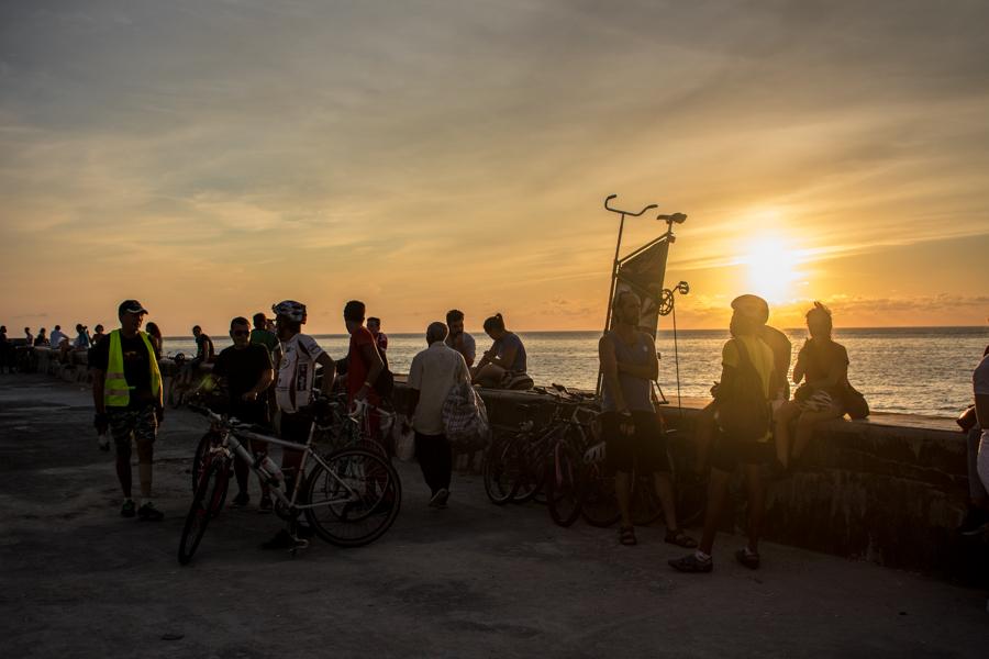 La mayoría de los que asisten creen en la bicicleta como una opción para lograr una ciudad más limpia y libre de contaminación