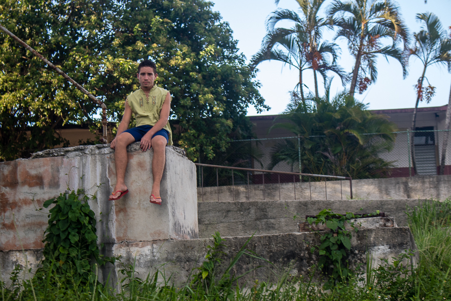 Alejandro Banderas, con 15 años (Foto: Ismario Rodríguez)
