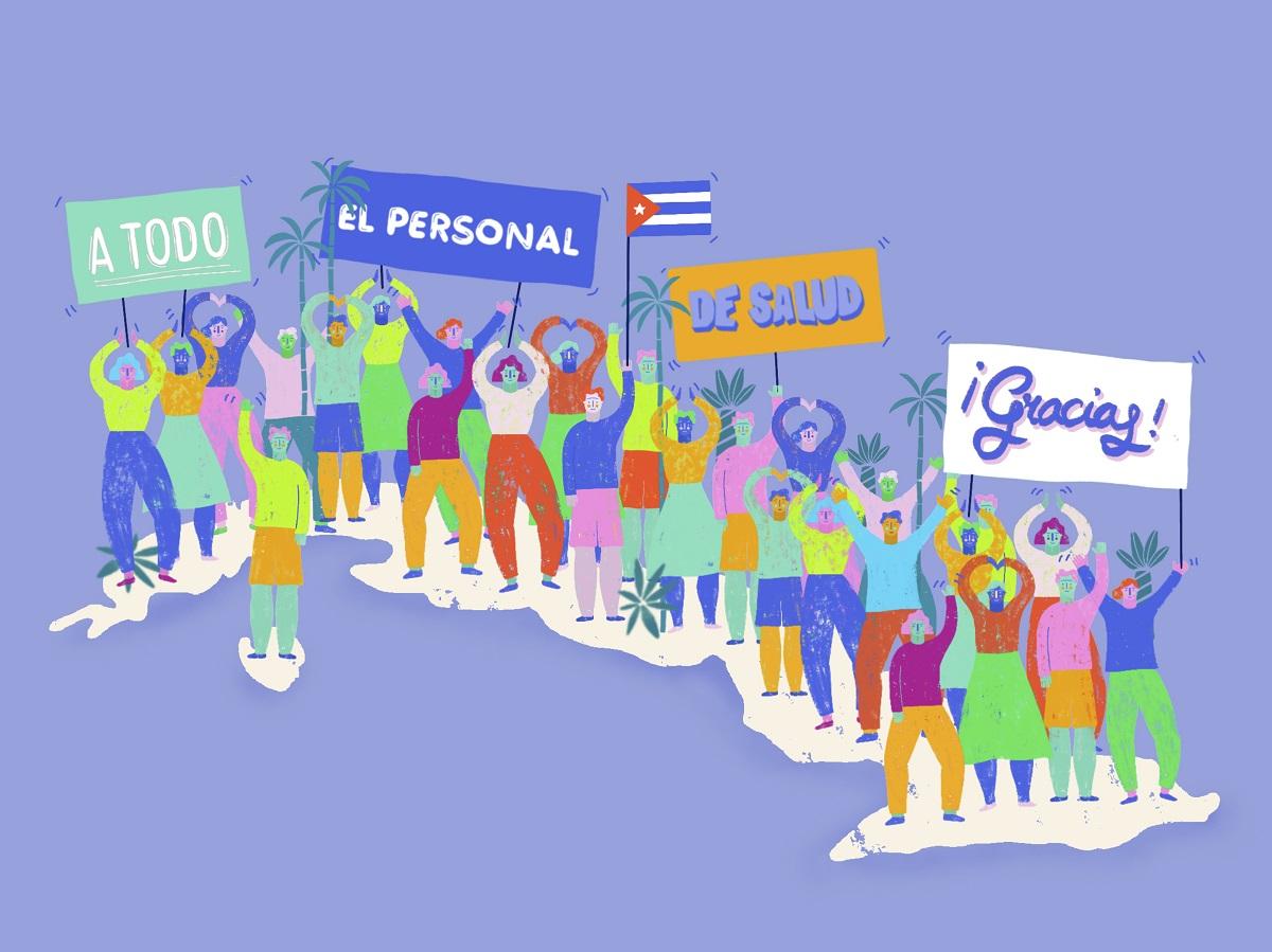 Gracias sanitarios (Ilustración: Liliana Serguera).