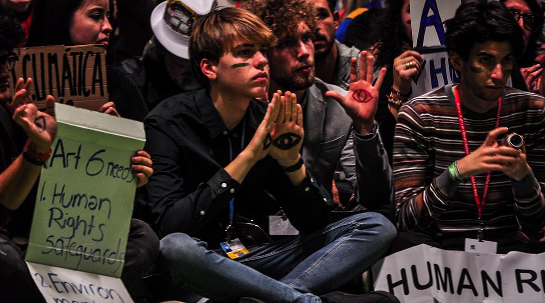 Los reclamos de la sociedad civil no fueron suficiente para que los gobiernos presentes en la COP25 llegaran a acuerdos medulares. (Foto: Julio Batista).