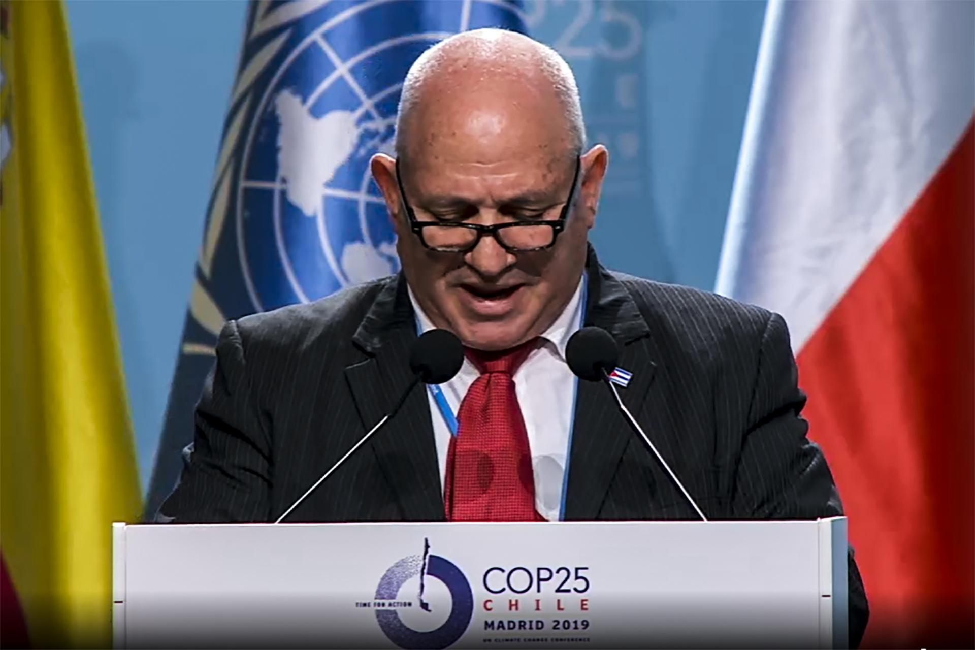 José Fidel Santana Núñez, Viceministro del Ministerio de Ciencia Tecnología y Medio Ambiente (CITMA).