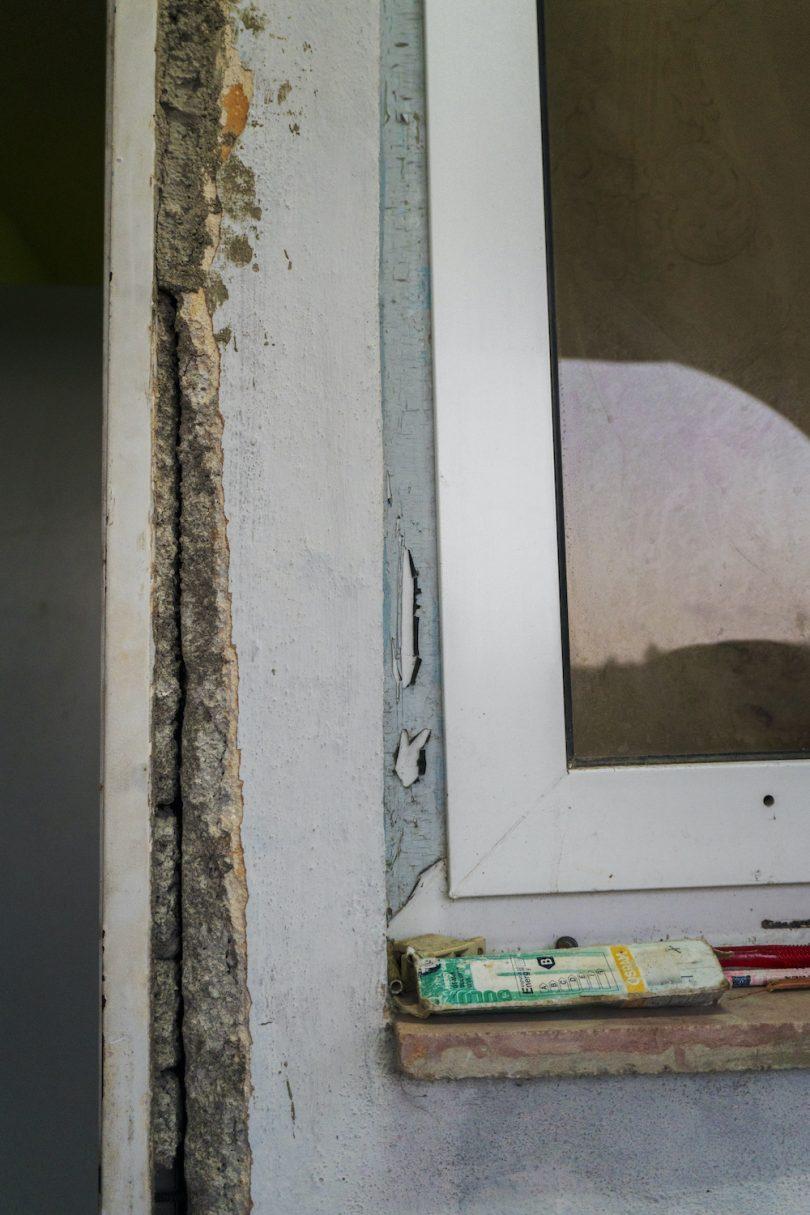 Grietas en marcos de ventana