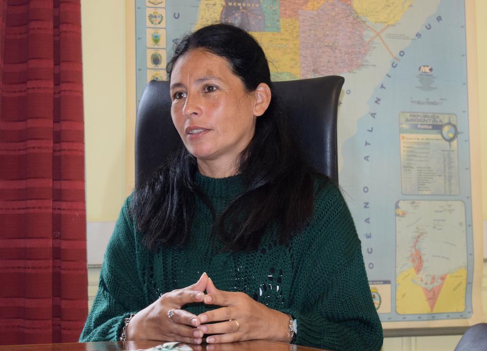 """María Castillo, directora nacional de Reciclado: """"En las cooperativas hacemos mucho más que valorizar residuos. En el trabajo también se abordan la violencia de género, el trabajo infantil, las adicciones"""". Foto: Matías González."""