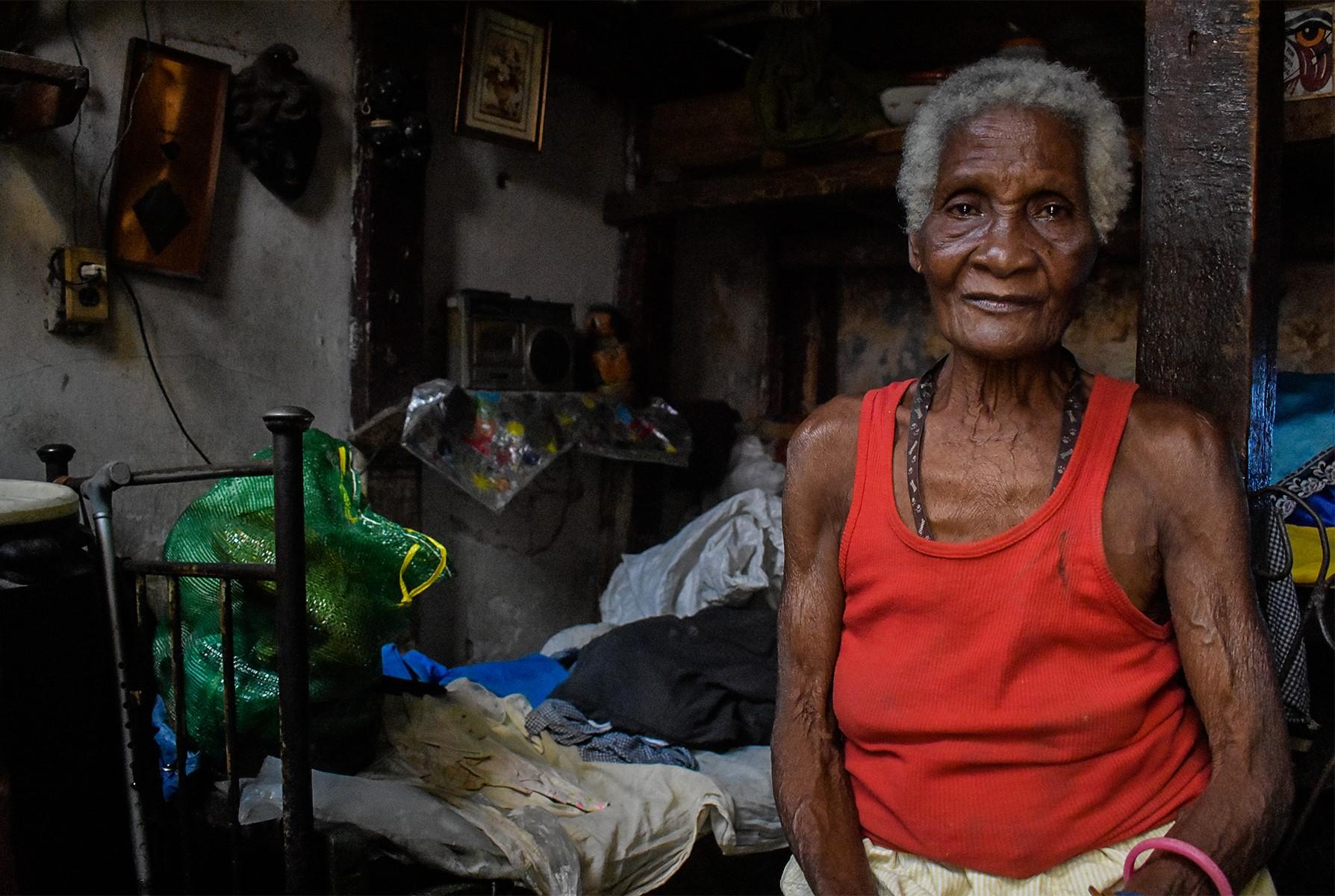 Magaly no recibe comida desde enero debido al alza de los precios. (Foto: Thalía Alfonso Gómez).